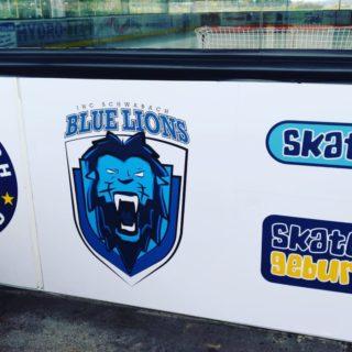 Homebase wird schöner! #skaterhockey #schwabach #bluelionsschwabach #schwabachunited Danke für die Umsetzung!